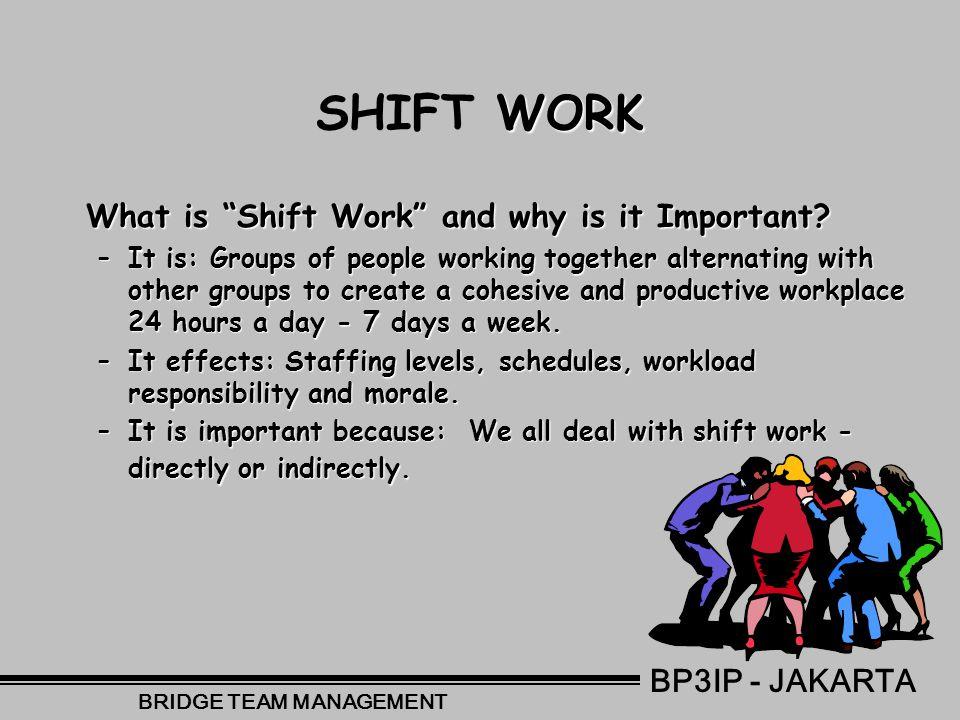 Dealing With Shift Work and Fatigue BP3IP - JAKARTA BRIDGE TEAM MANAGEMENT