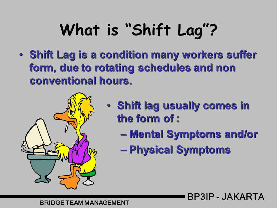 Common Negative Effects of Shift Work Lack of Communication between staff on different shifts.Lack of Communication between staff on different shifts.