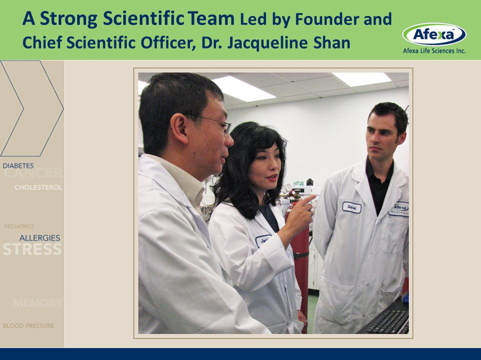 A Strong Scientific Team Led by Founder and Chief Scientific Officer, Dr. Jacqueline Shan