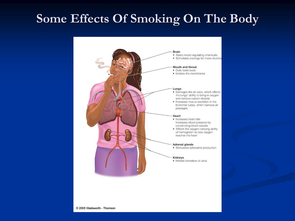 Some Effects Of Smoking On The Body