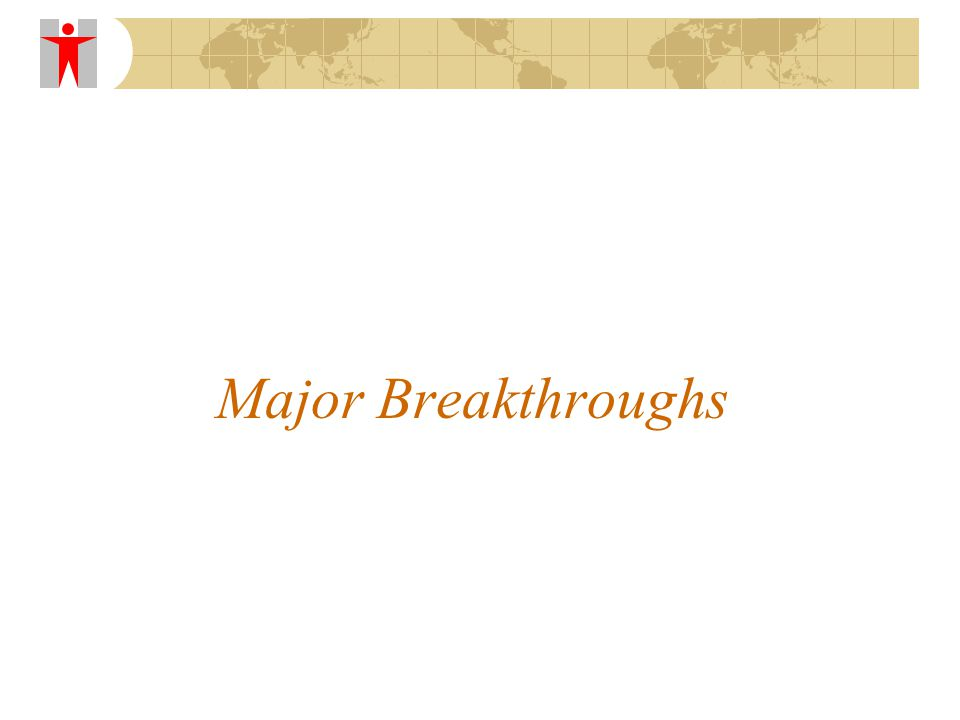 Major Breakthroughs