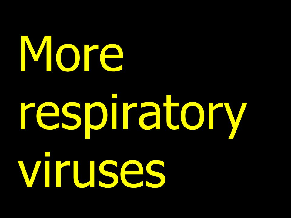More respiratory viruses