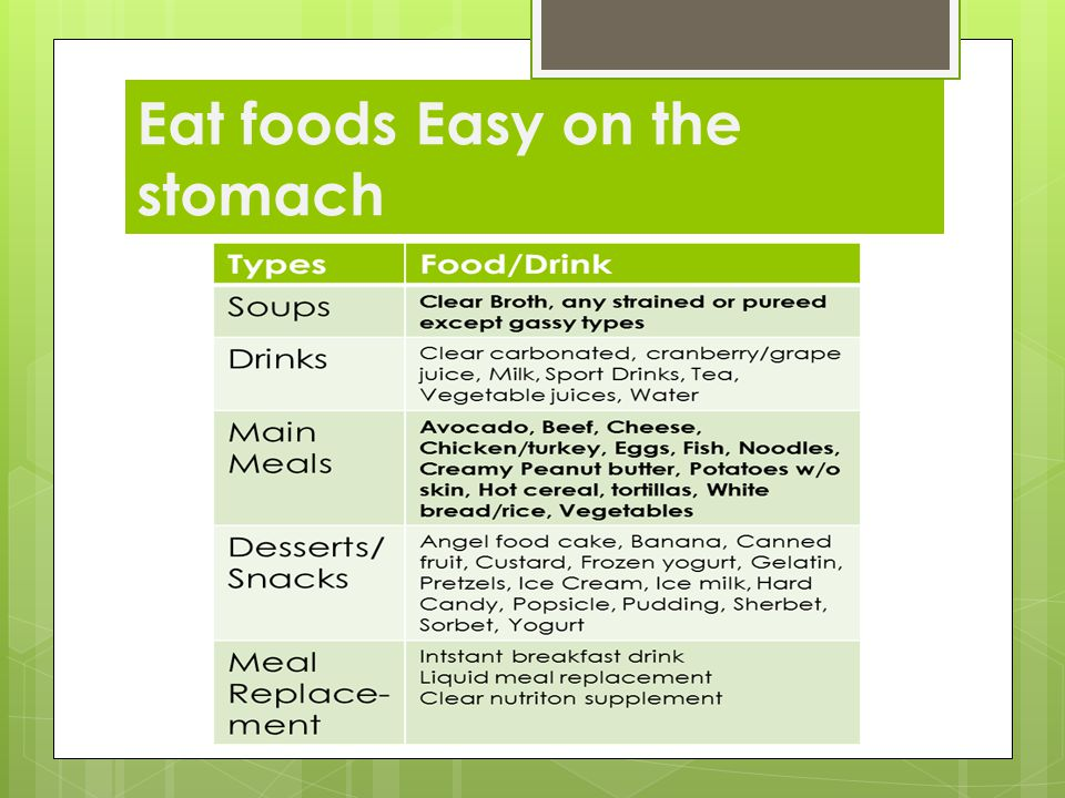 Eat foods Easy on the stomach