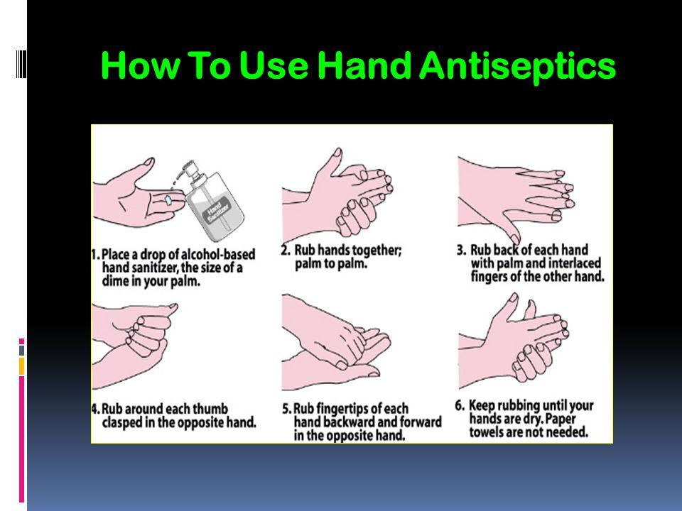 How To Use Hand Antiseptics