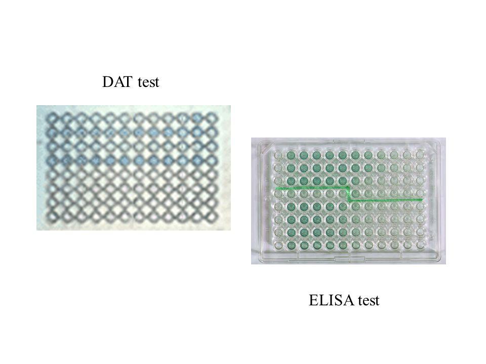 DAT test ELISA test