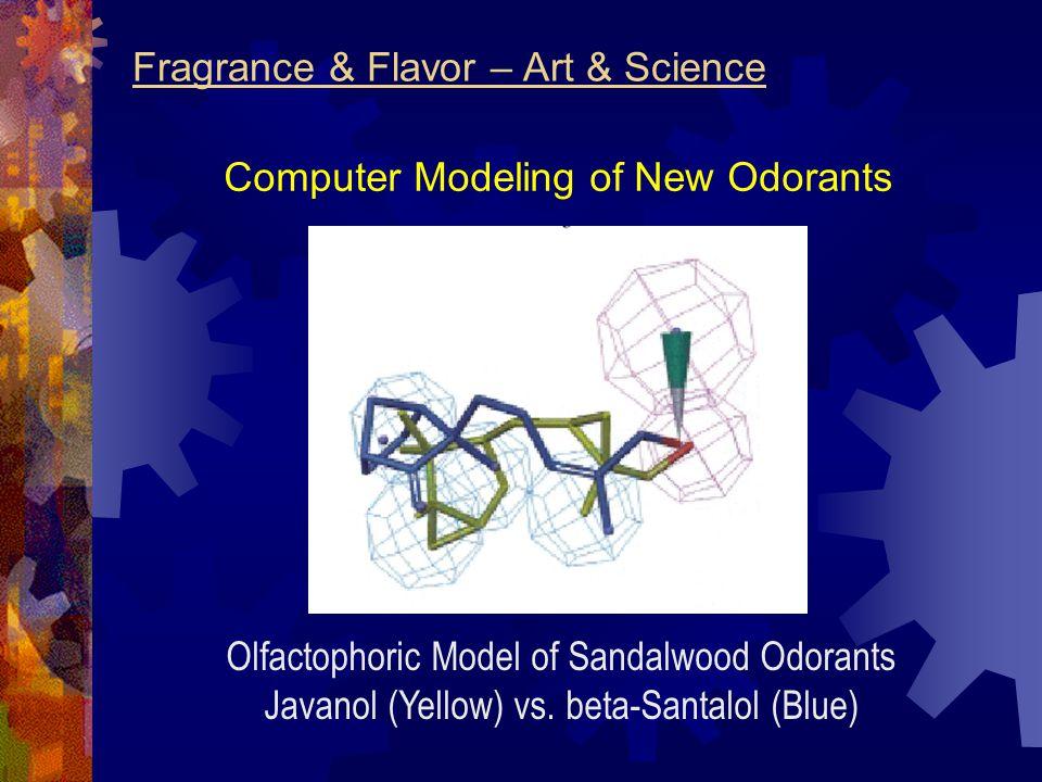 Computer Modeling of New Odorants Olfactophoric Model of Sandalwood Odorants Javanol (Yellow) vs. beta-Santalol (Blue)