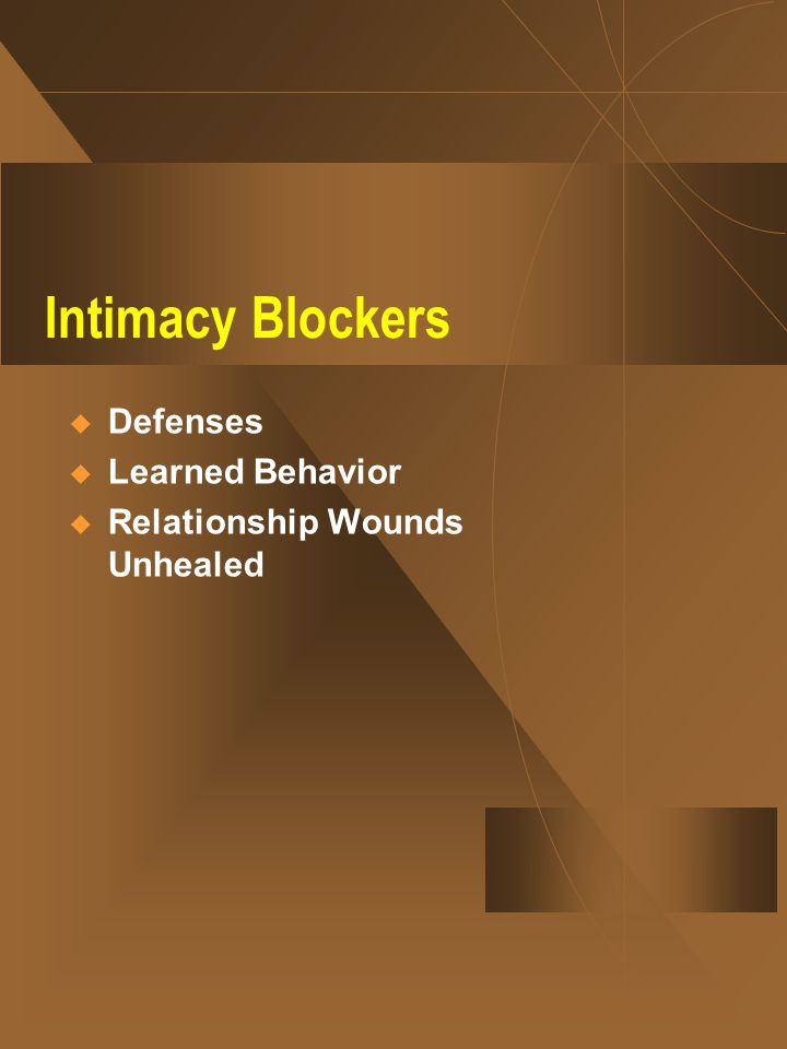 Intimacy Blockers  Defenses  Learned Behavior  Relationship Wounds Unhealed