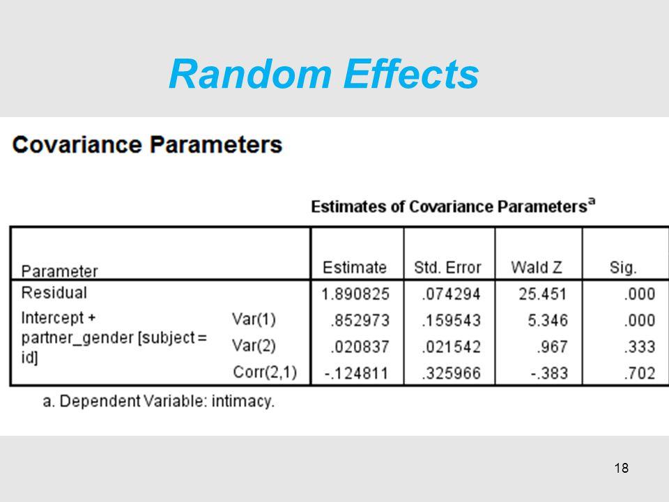 Random Effects 18