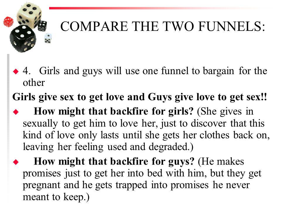 COMPARE THE TWO FUNNELS: u 5.