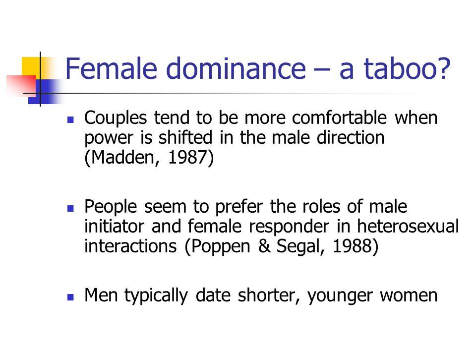 Female dominance – a taboo.