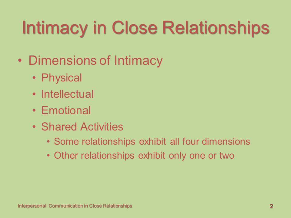 13 Interpersonal Communication in Close Relationships Communication in Friendships Sex, Gender, and Friendship Gender considerations Sex role Sexual orientation