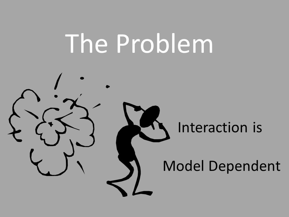 BOTTOM LINE CAUSAL INFERENCE RE: INTERACTION(DARROCH MODEL) SYNERGISM EXISTS THERE ARE MORE PEOPLE FOR WHOM THE EXPOSURES WORK SYNERGISTICALLY THAN IN A PARALLEL MANNER IF THERE IS NO ADDITIVE INTERACTION IN YOUR DATA: THERE MAY BE NO SYNERGISM THE PROPORTION OF PEOPLE FOR WHOM THE EXPOSURES WORK SYNERGISTICALLY MAY BE THE SAME AS THE PROPORTION FOR WHOM THE EXPOSURES WORK IN A PARALLEL MANNER PARALLELISM EXISTS THERE ARE MORE PEOPLE FOR WHOM THE EXPOSURES WORK IN A PARALLEL MANNER THAN FOR WHOM THE EXPOSURES WORK SYNERGISTICALLY IF THERE IS EVIDENCE OF NEGATIVE ADDITIVE INTERACTION IN YOUR DATA IF THERE IS EVIDENCE OF POSITIVE ADDITIVE INTERACTION IN YOUR DATA: 43