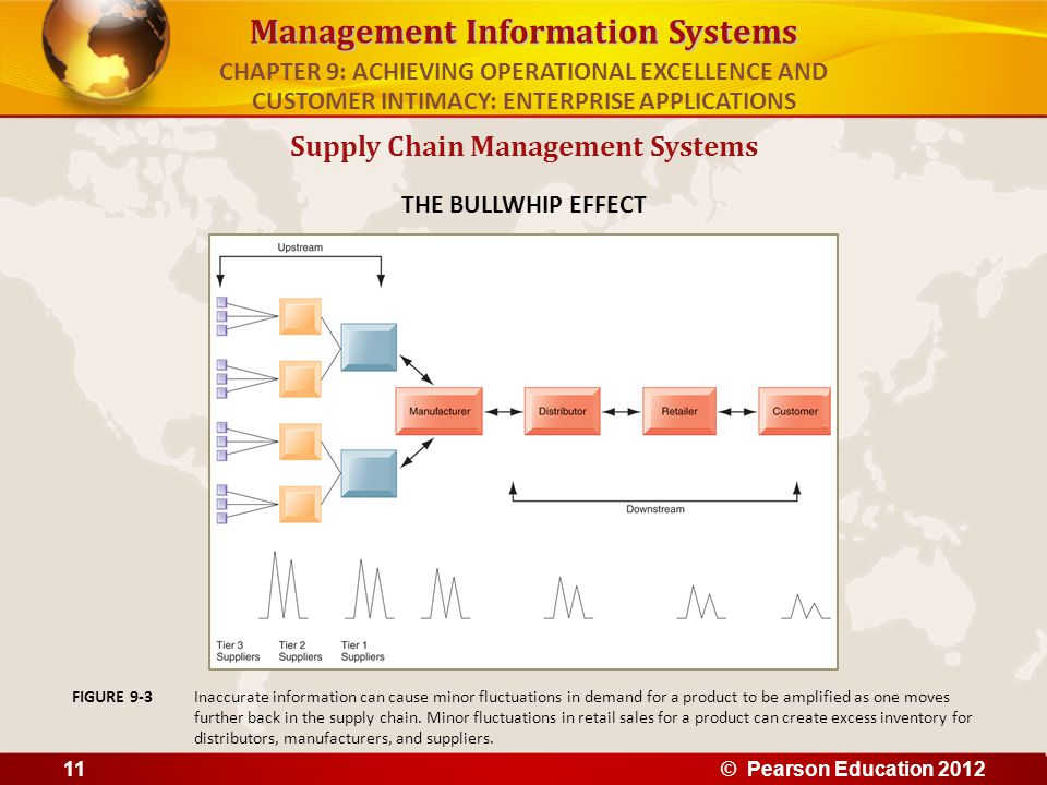 Management Information Systems Supply Chain Management Systems THE BULLWHIP EFFECT Inaccurate information can cause minor fluctuations in demand for a