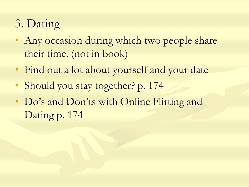 4.Hooking Up A sexual encounter, but not really together as in a relationship.