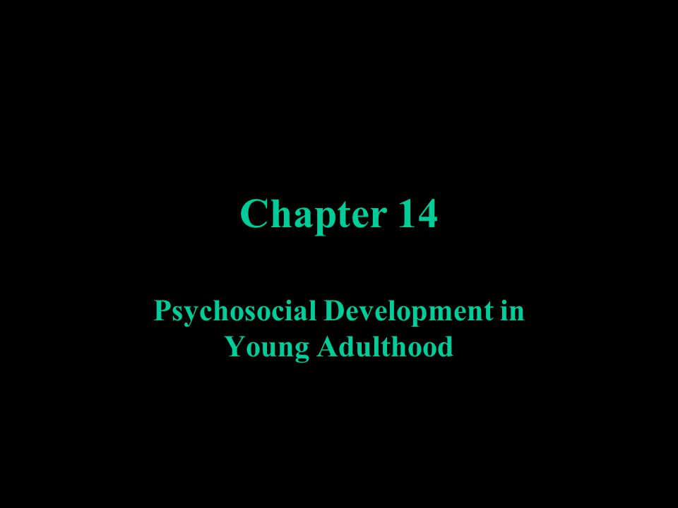 Chapter 14 Psychosocial Development in Young Adulthood