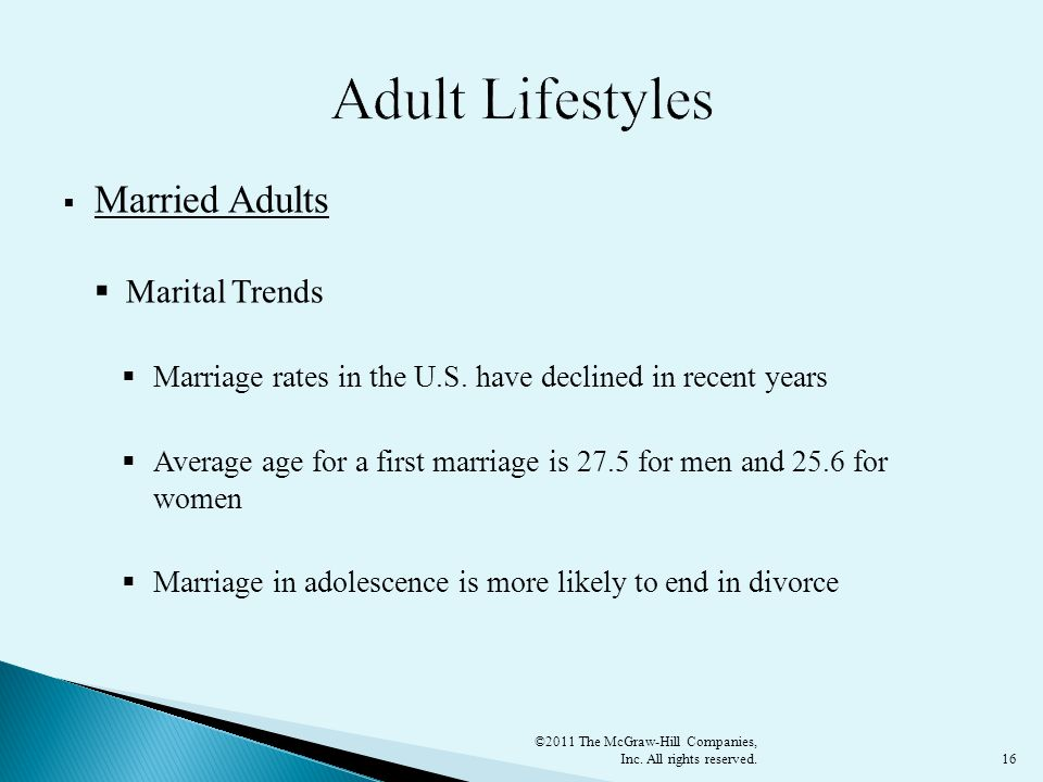 16  Married Adults  Marital Trends  Marriage rates in the U.S.