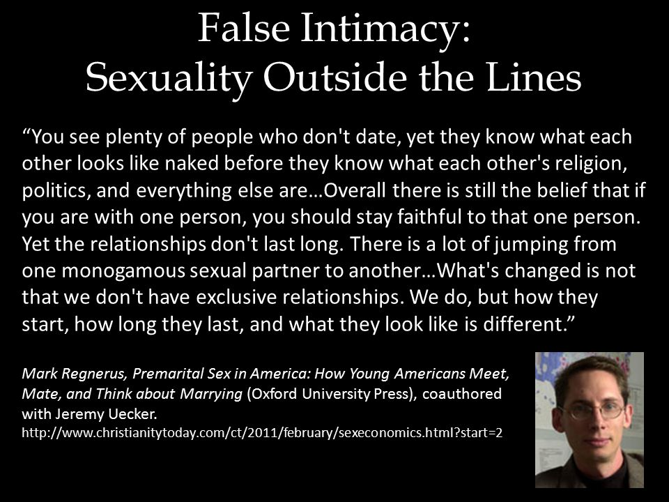 You see plenty of people who don t date, yet they know what each other looks like naked before they know what each other s religion, politics, and everything else are…Overall there is still the belief that if you are with one person, you should stay faithful to that one person.
