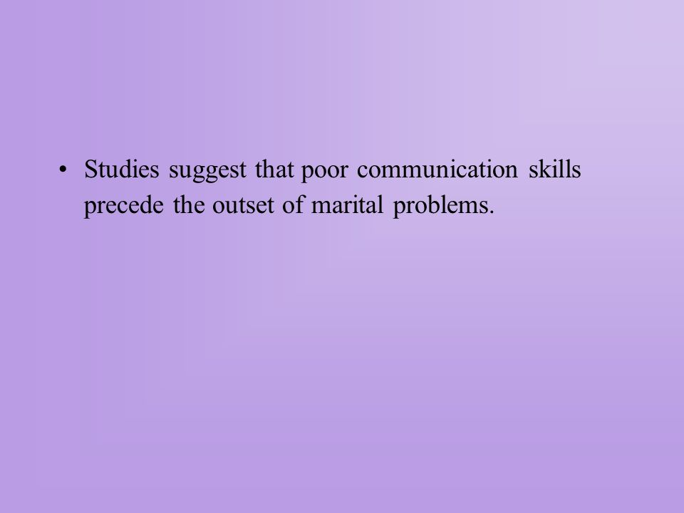 Developing Communication Skills We can learn to communicate but it is not always easy.