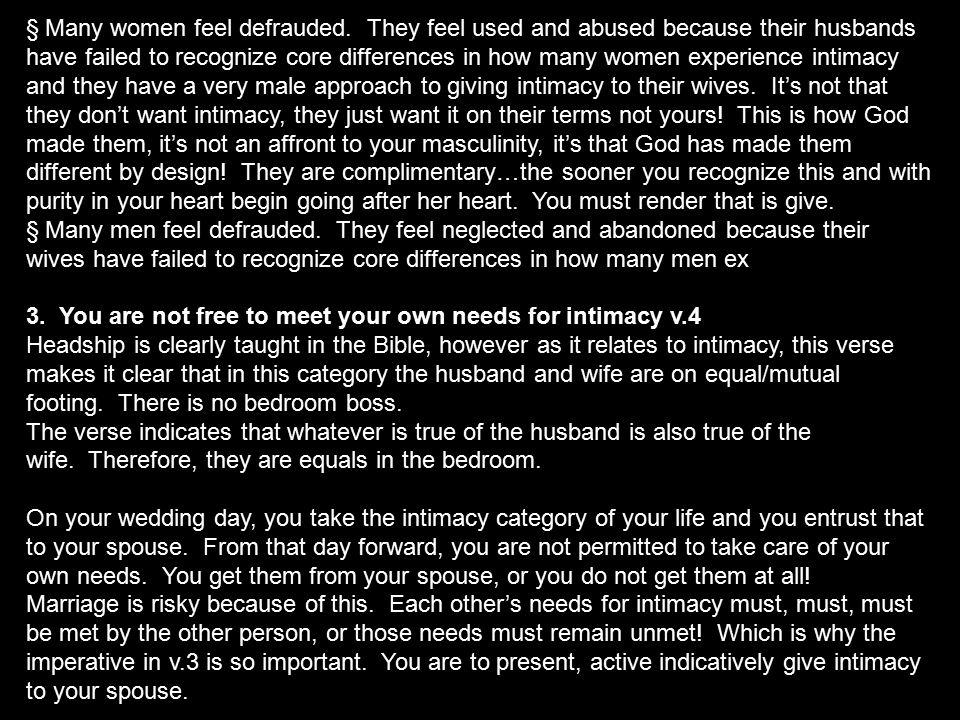 § Many women feel defrauded.