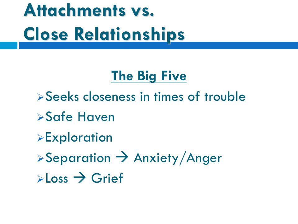 Attachments vs.