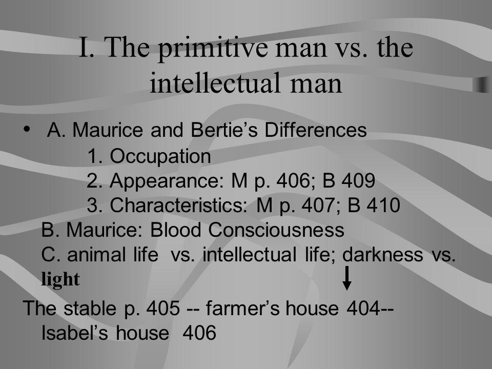 I.The primitive man vs.