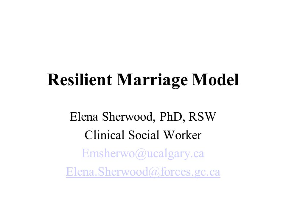 Originated from: The research question: What makes Canadian military marriages strong.