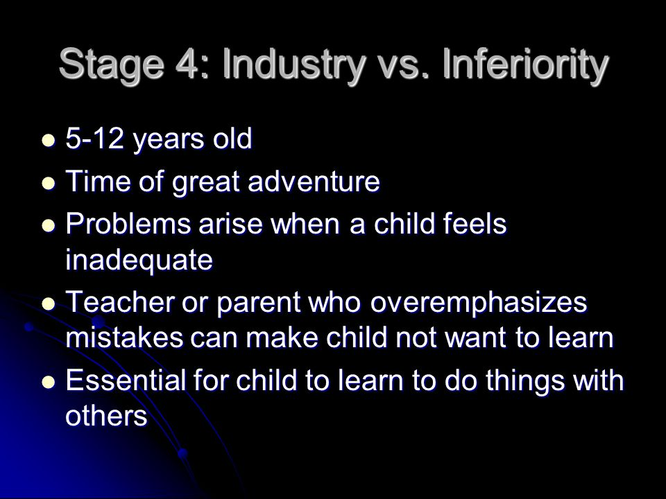 Stage 4: Industry vs.