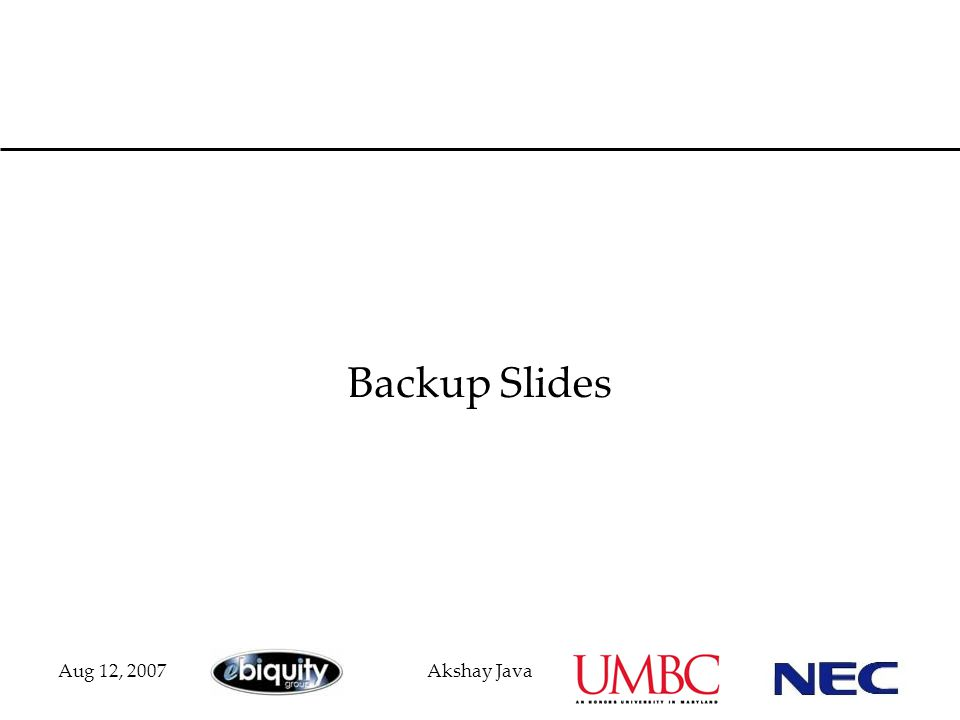 Aug 12, 2007Akshay Java Backup Slides