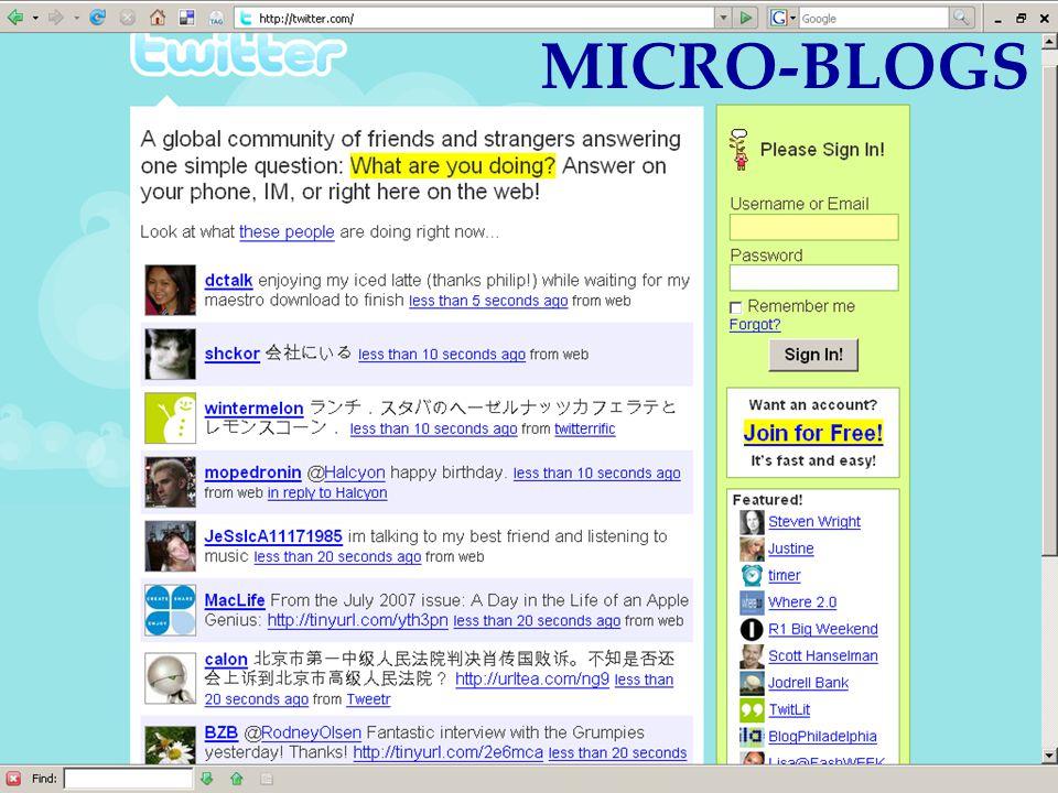 Aug 12, 2007Akshay Java MICRO-BLOGS