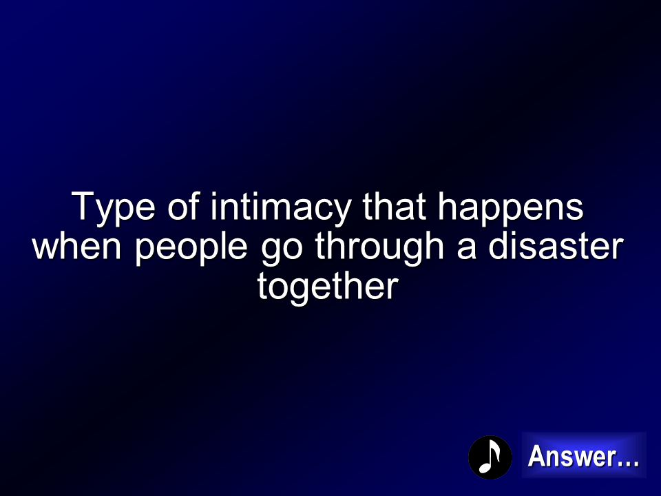 What is Common Task Intimacy 100