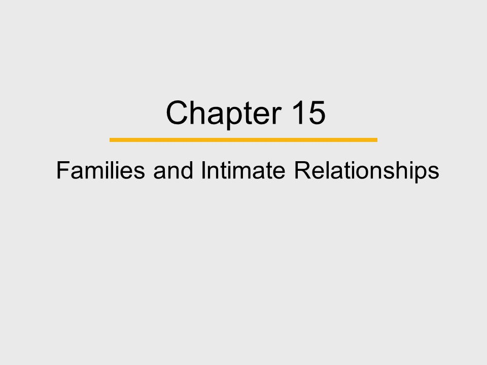 Chapter Outline  Families in Global Perspective  Theoretical Perspectives on Families  Developing Intimate Relationships and Establishing Families  Child-Related Family Issues and Parenting  Transition and Problems in Families  Family Issues in the Future