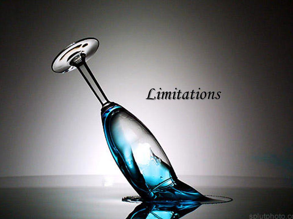 Limitations Limitations