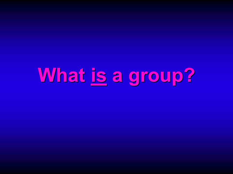 Which of these are meaningful groups.