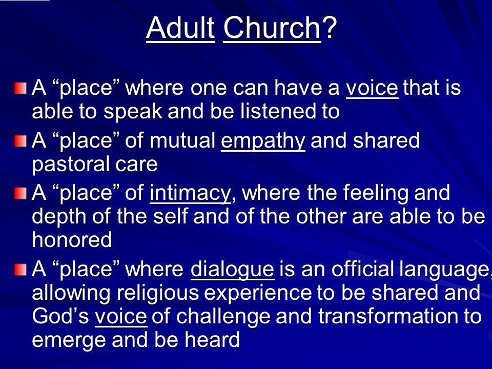 Adult Church.