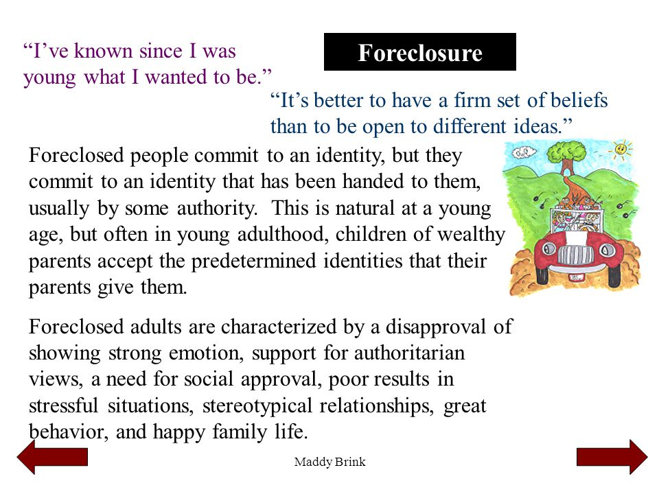 """Maddy Brink Foreclosure """"I've known since I was young what I wanted to be."""" """"It's better to have a firm set of beliefs than to be open to different id"""