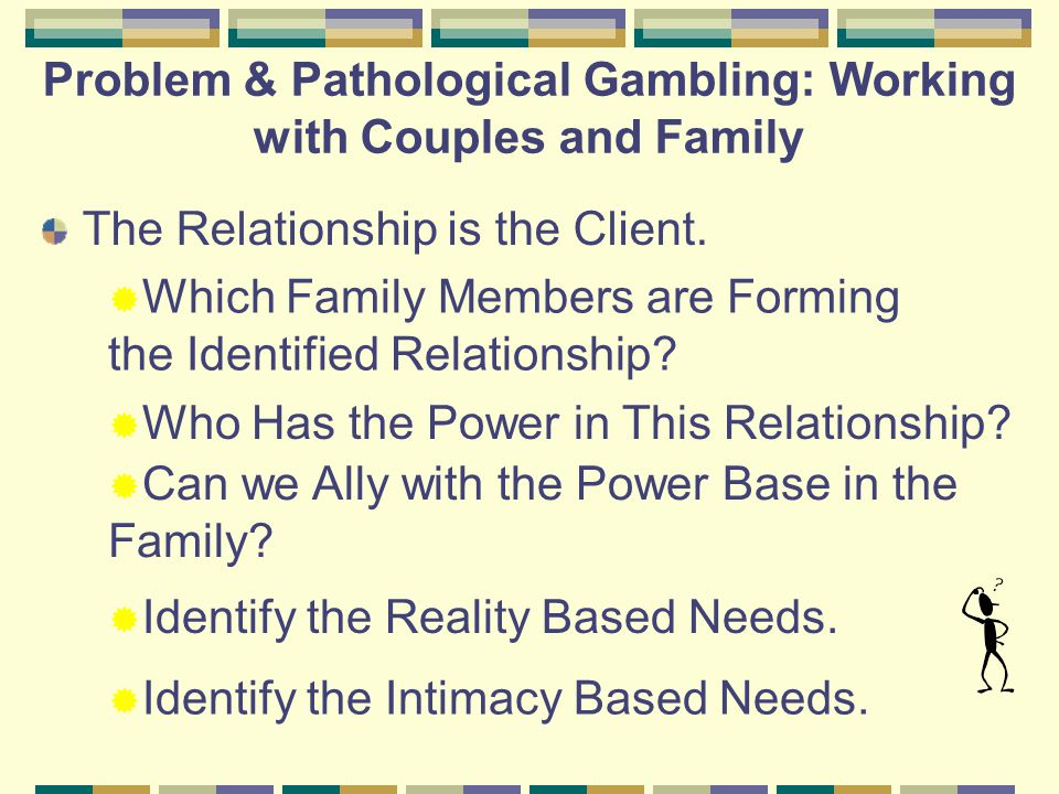 Problem & Pathological Gambling Treatment Strategies Joanna Franklin MS NCGC-II Maryland Council on Problem Gambling Jfranklin.ipg@gmail.com