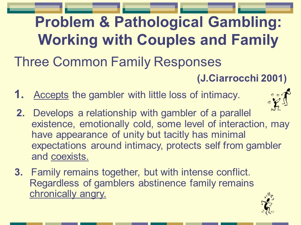 Family Assessment Impact of Gambling on Family-Emotional Anger Depression Anxiety/Fearfulness Guilt/Blaming Physical Symptoms History of Abuse/Domestic Violence Suicidality Intensity of Anger and Impulsivity