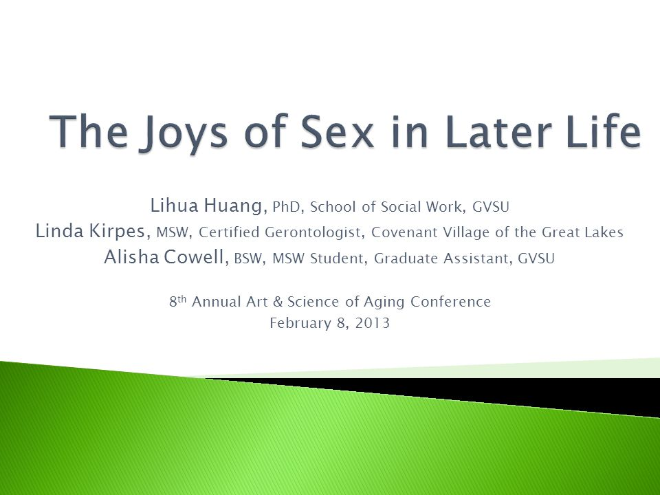  There is little evidence that normal physical changes associated with aging necessarily or irreversibly impact sexual functioning in women and in men:  Women may experience vaginal dryness and atrophy, as a result of gradual decline in levels of estrogen in the body;  The studies on effects of menopause on sexual functioning suggest it contributes to meaning women attribute to menopause rather than menopause itself;  Men may experience slower erections, less firm erections, decreased likelihood of orgasms, and longer refractory periods as a result of a slow decline in testosterone production;