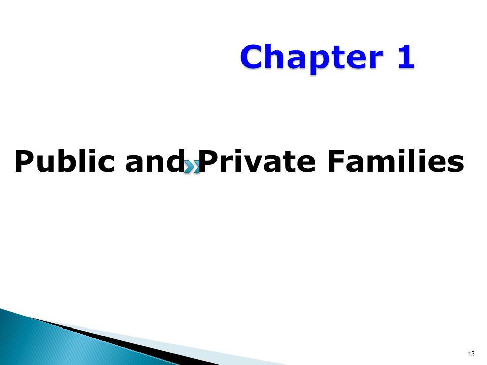 Public and Private Families 13
