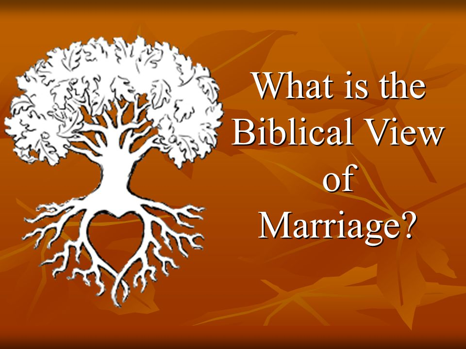 What is the Biblical View of Marriage What is the Biblical View of Marriage