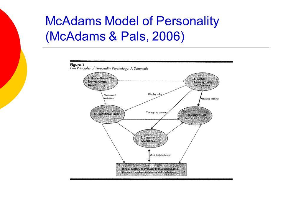 McAdams Model of Personality (McAdams & Pals, 2006)