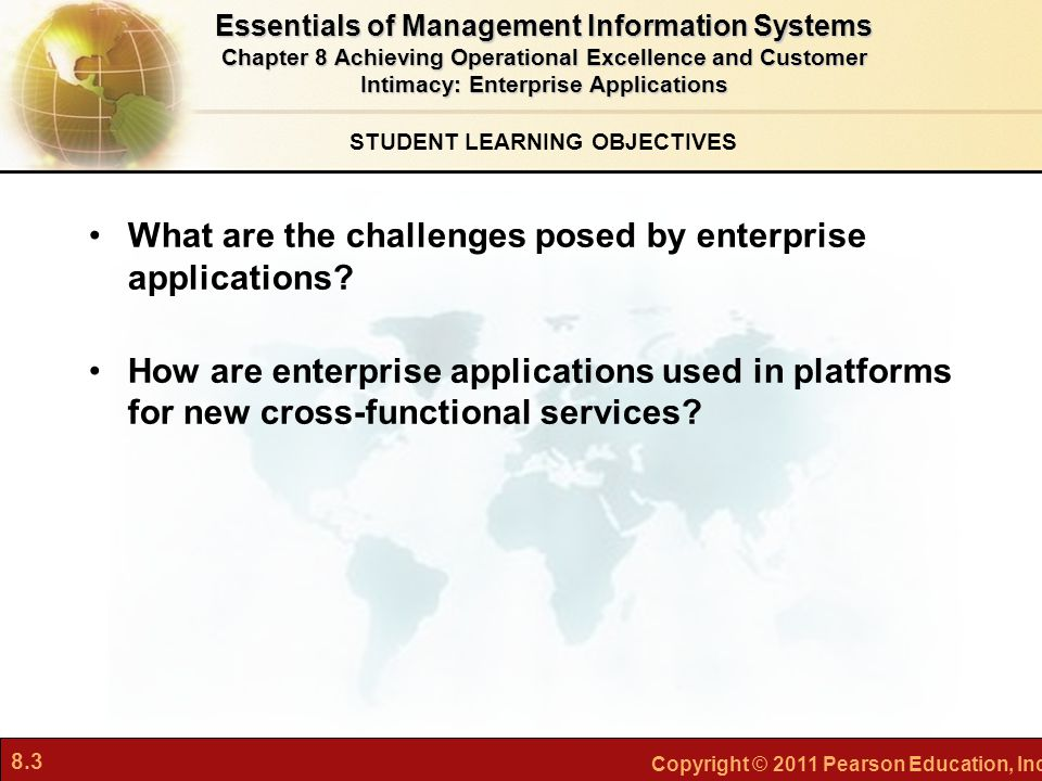 8.24 Copyright © 2011 Pearson Education, Inc.What Is Customer Relationship Management.