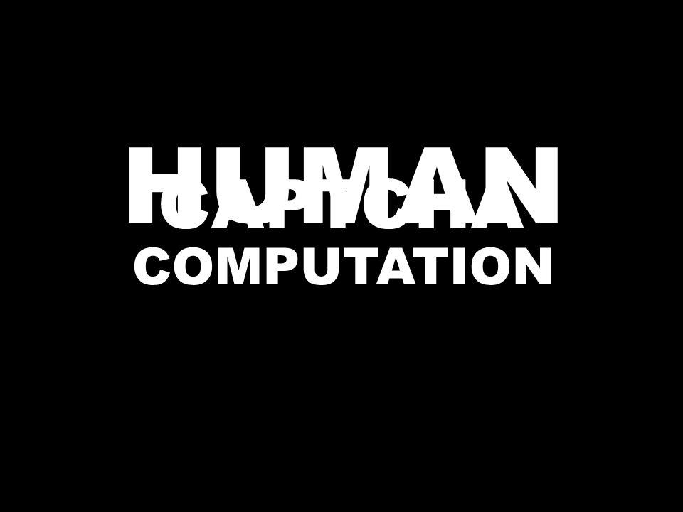 CAPTCHA HUMAN COMPUTATION