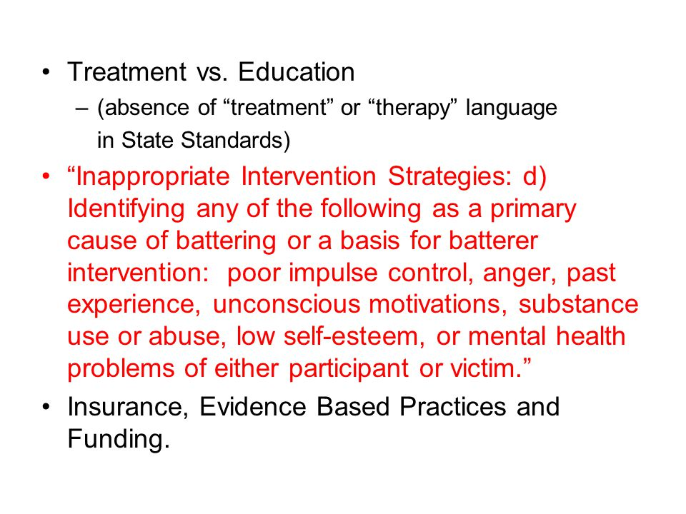 Treatment vs.