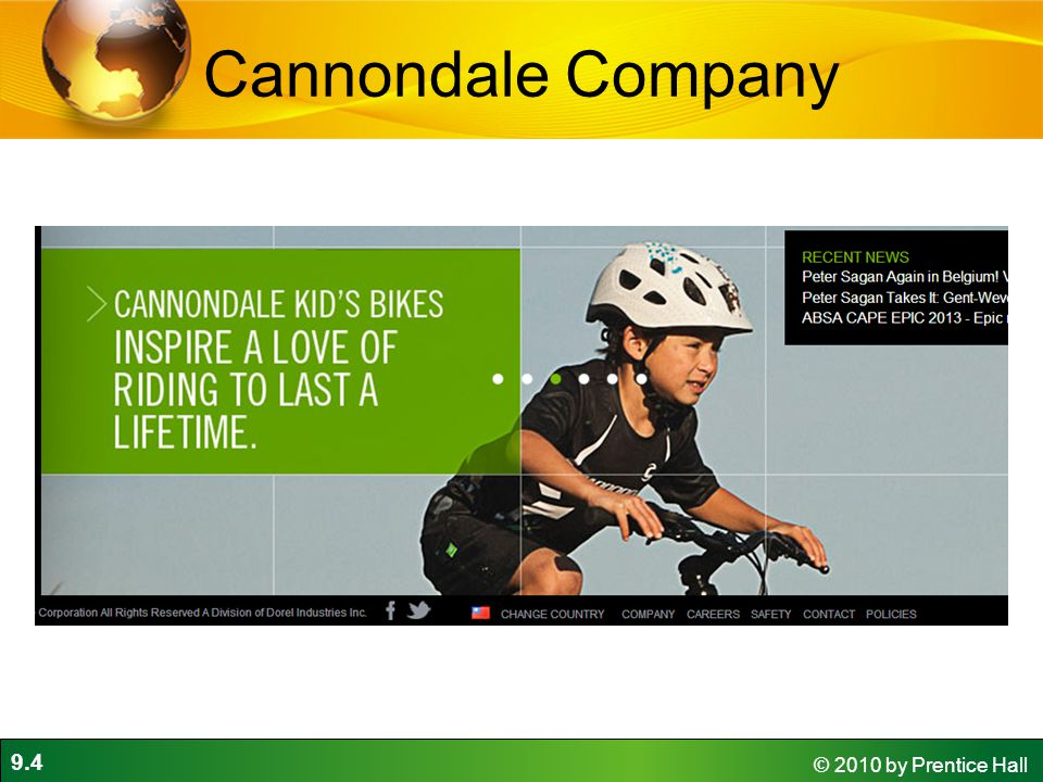 9.4 © 2010 by Prentice Hall Cannondale Company