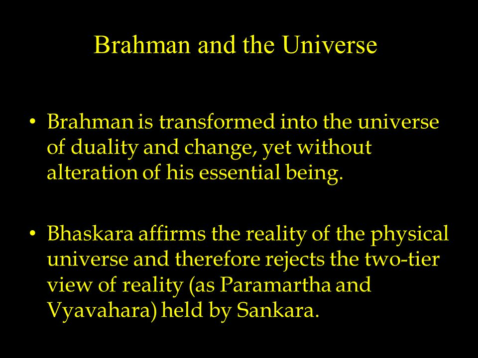 Jivas are in their real nature one with Brahman but is differentiated from Brahman through the state of bondage, entanglement in the material world.