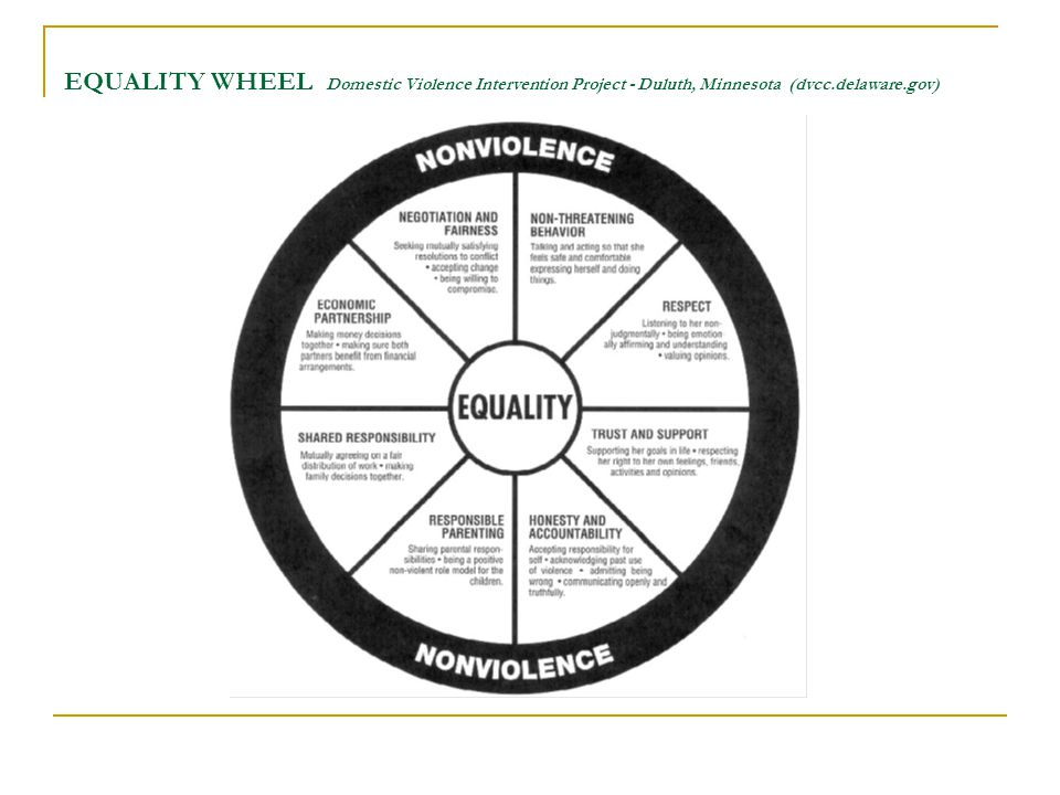 EQUALITY WHEEL Domestic Violence Intervention Project - Duluth, Minnesota (dvcc.delaware.gov)