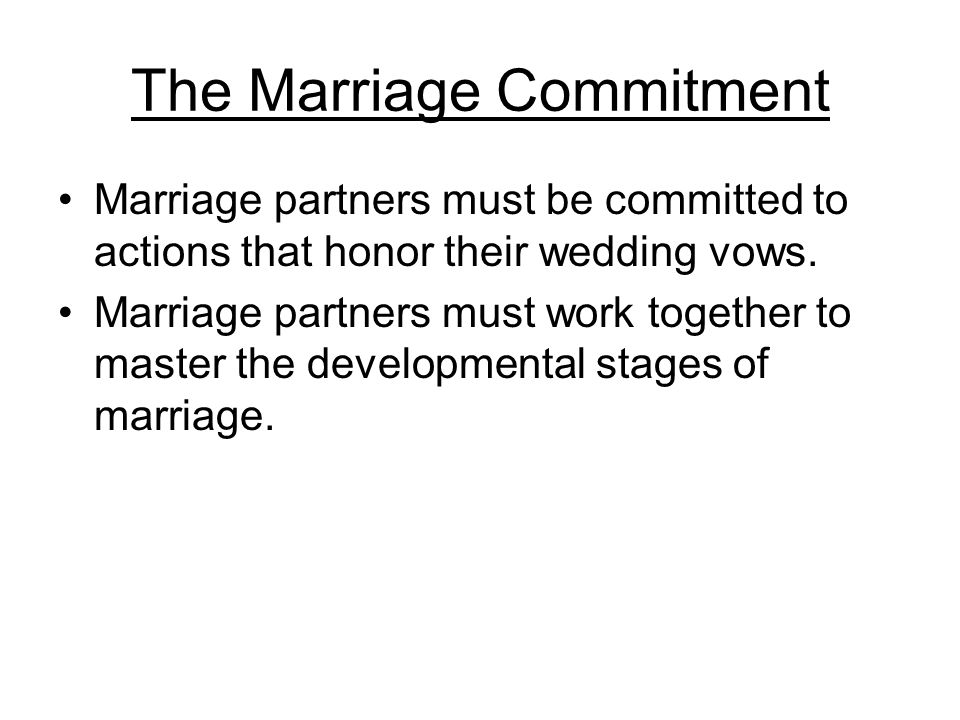The Major Tasks of the Five Stages of Marriage The first 2 years The 3rd through 10th The 11th through 25th The 26th through 35th The 36th on