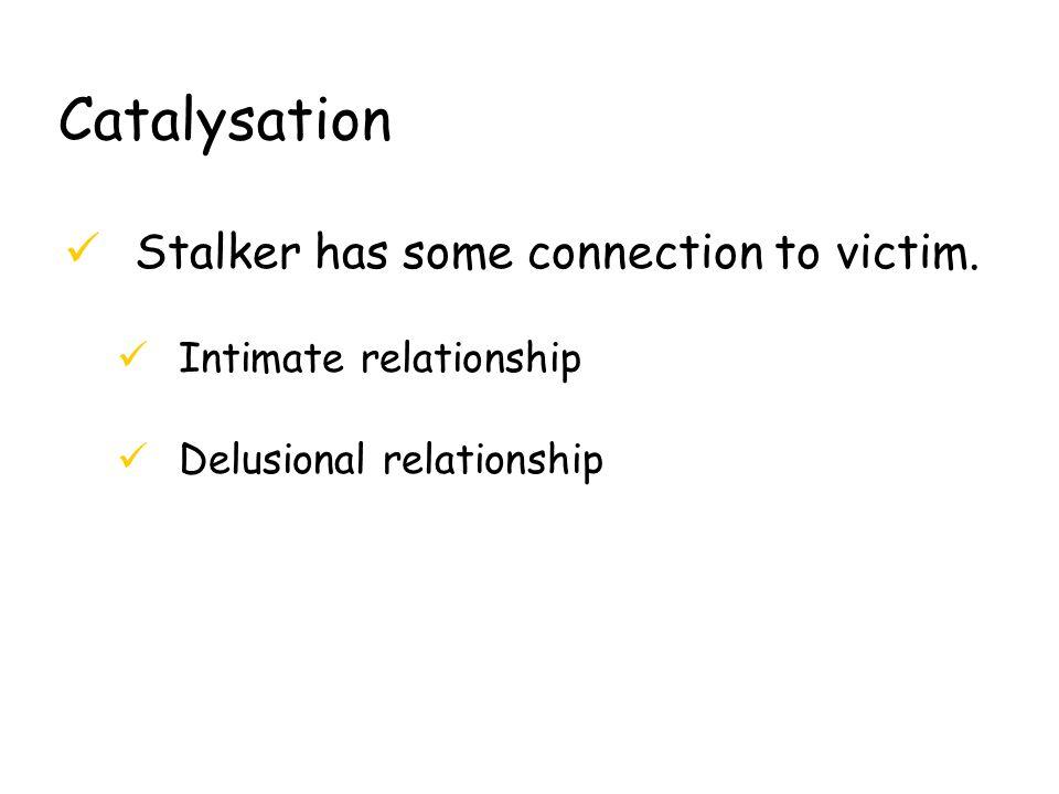 Catalysation üStalker has some connection to victim.