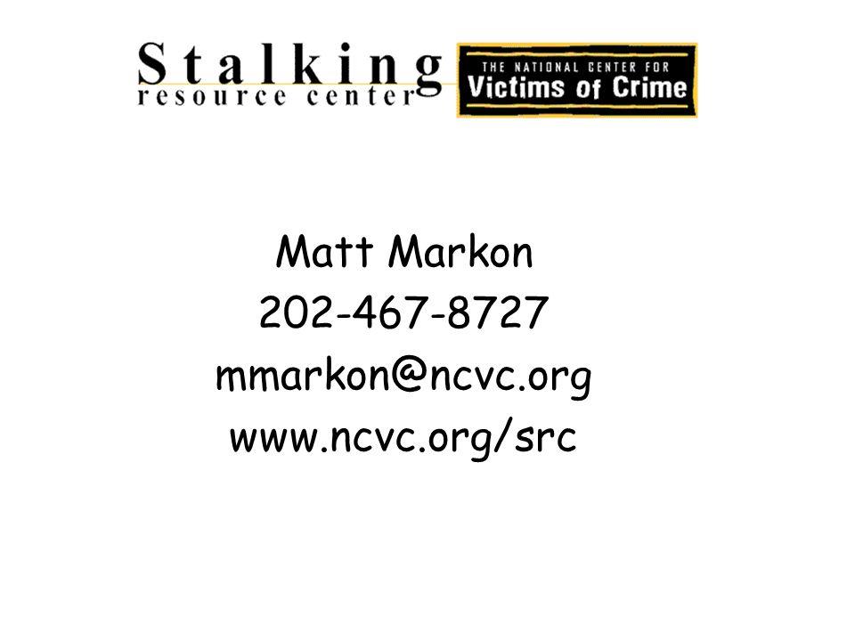 Matt Markon 202-467-8727 mmarkon@ncvc.org www.ncvc.org/src